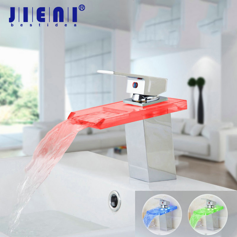 Chrome LED Bathroom Water Faucet