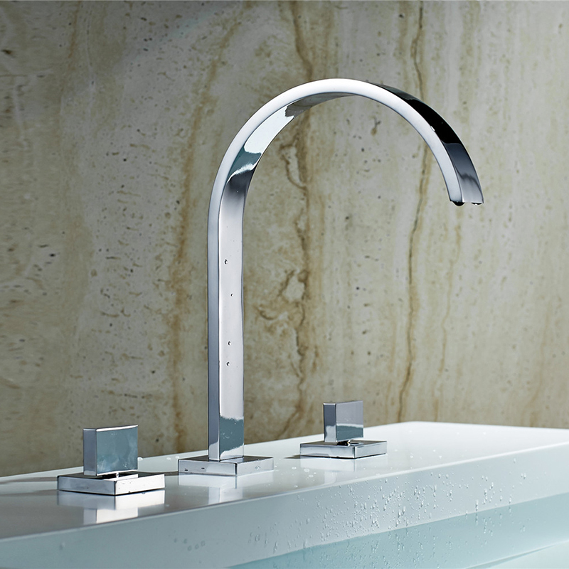 Deck Mounted Square Bathroom Faucet – Beds Baths and More