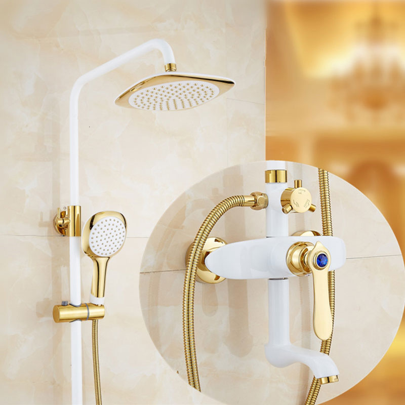 European Style Brass Bathroom Shower Faucet System