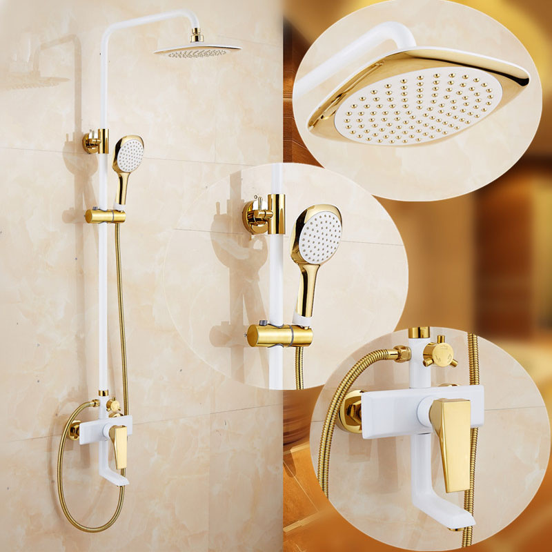 European Style Brass Bathroom Shower Faucet System – Beds Baths and More